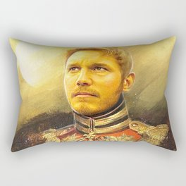 Starlord Guardians Of The Galaxy General Portrait Painting | Fan Art Rectangular Pillow