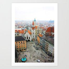 Munich Rooftops Art Print