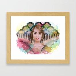LADY2 Framed Art Print