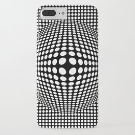 Black And White Victor Vasarely Style Optical Illusion iPhone Case
