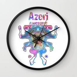 Azeri Awesome Pug Gift Funny Dog Ballerina In Space Wall Clock