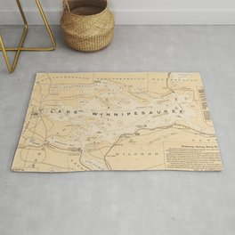 Vintage Map of Lake Winnipesaukee (1896) Rug