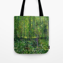 Vincent Van Gogh Trees & Underwood Tote Bag