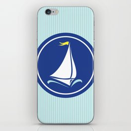 Sailboat Print  iPhone Skin