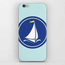 Sailboat Print  iPhone Skin