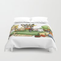 jackalope Duvet Covers featuring March Jackalope by JoJo Seames