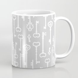 Light Grey Victorian Keys Coffee Mug