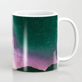 Night Sky Star Landscape - Purple Turquoise Coffee Mug