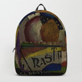 'El Raso,' Diner, Fruit, and Wine Portrait by Diego Rivera Backpack