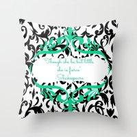 shakespeare Throw Pillows featuring Shakespeare  by Jordan Virden