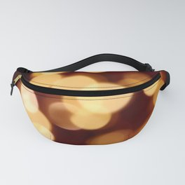 Gold and Dark Red Bokeh Photography Fanny Pack