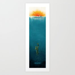The Creature from Amity Island - Full Color Art Print