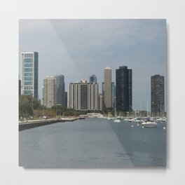 Chicago Shoreline, Skyline, Lake Michigan Metal Print