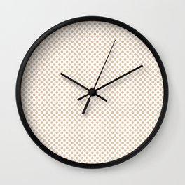 Apricot Illusion Polka Dots Wall Clock