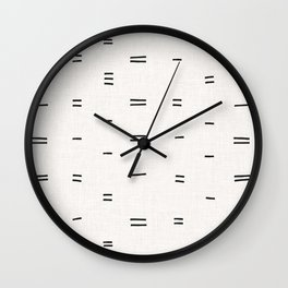 HAMMAH MUDCLOTH Wall Clock