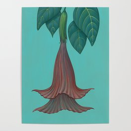 Aquarius Flower Variation Two Poster