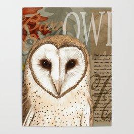 The Barn Owl Journal Poster