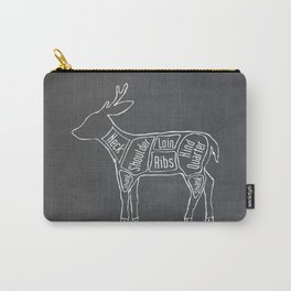 Venison Butcher Diagram (Deer Meat Chart) Carry-All Pouch