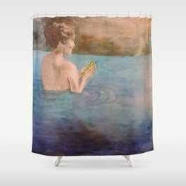 It's Okay to look back and let go. Shower Curtain