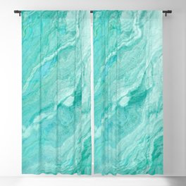 Azure marble Blackout Curtain