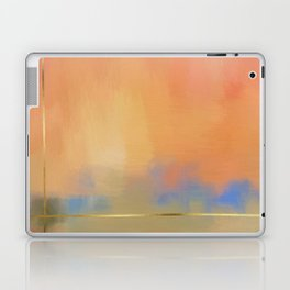 Abstract Landscape With Golden Lines Painting Laptop & iPad Skin