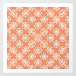 Kitchen orange silverware Art Print