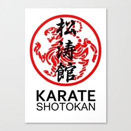 Shotokan Karate Symbol and Kanji Canvas Print