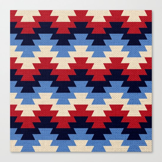 Aztec geometric pattern Canvas Print