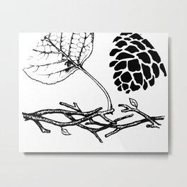 Woodlands Set Metal Print