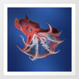 vampire squid Art Print