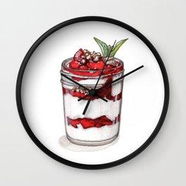 Desserts: Yogurt Parfait Wall Clock