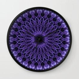 Detailed violet mandala Wall Clock