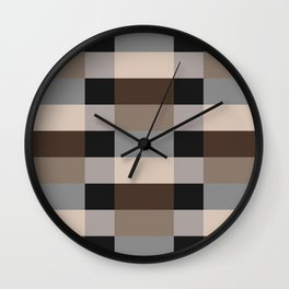 IKEA STOCKHOLM Rug Pattern - chequered, brown Wall Clock