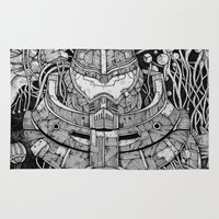pacific rim Area & Throw Rugs featuring Pacific Rim by Walid Aziz