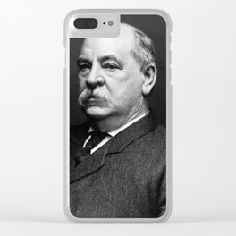 President Grover Cleveland Portrait Clear iPhone Case
