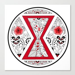 Black Widow Mandala red Canvas Print