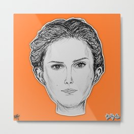 (The Most Beautiful Woman - Natalie Portman) - yks by ofs珊 Metal Print