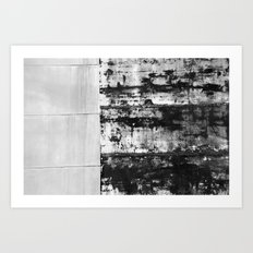 Black and White Abstract No. 0582 Art Print
