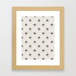 Cute Ditsy Daisy Heart Sprinkles Flowery Garden Framed Art Print