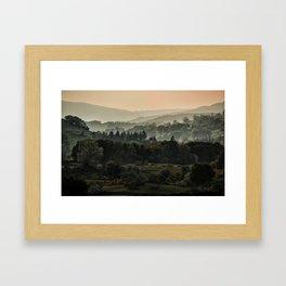 Foggy morning in Lake District Framed Art Print