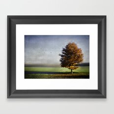dressed in autumn Framed Art Print