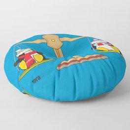 funny zodiac/libra Floor Pillow