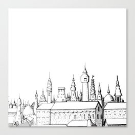 fabulous city . art . black and white Canvas Print