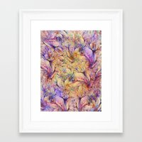 nudes Framed Art Prints featuring Nudes in Flowers by Klara Acel