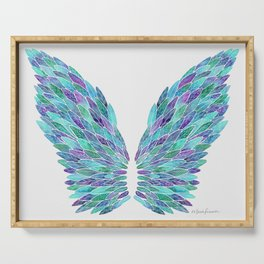 Turquoise Angel Wings Serving Tray
