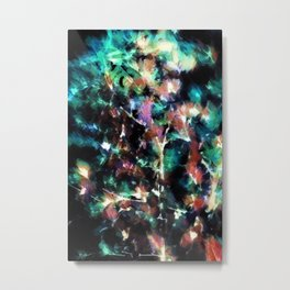 Night lights in the woods. Colorful abstract background Metal Print