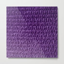 Purple Bubble Row Textile Photo Art Metal Print