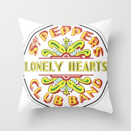 Sgt. Peppers Throw Pillow