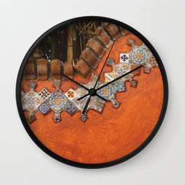 Mexican Tile Wall Clock