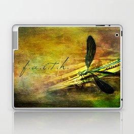 Ebony Jewel Wing Damselfly Faith Laptop & iPad Skin